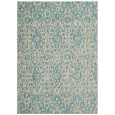 safavieh martha stewart gray aqua 4 ft x 6 ft indoor outdoor