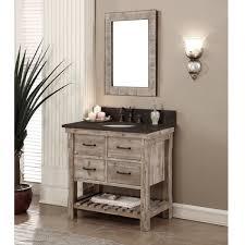 Rustic bathroom vanities 36 inch Shelf Bottom Rustic Style Dark Limestone Top 36inch Bathroom Vanity With Matching Wall Mirror Myriadlitcom Shop Rustic Style Dark Limestone Top 36inch Bathroom Vanity With