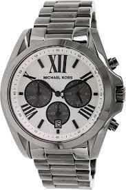 kors mk5952 bradshaw white dial gunmetal chrono men s watch michael kors mk5952 bradshaw white dial gunmetal chrono men s watch