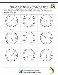 Math : Clock Worksheets To 1 Minute Printable Clock Telling The ...