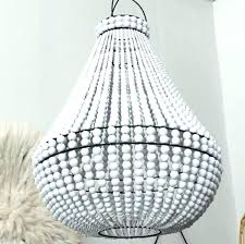 white wood bead chandelier white wood bead chandelier wooden beaded chandelier white bead with matching contrast white wood bead chandelier