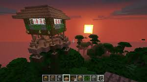 picture of awesome minecraft jungle treehouse