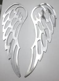 iron wall decor u love: lot of  angel wings quot brushed finish metal wall art stencil craft craft
