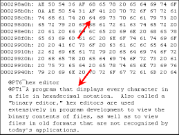 Hexadecimal To Text Chart Hex Editing Article About Hex Editing By The Free Dictionary