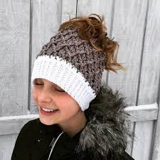 Free Crochet Hat Pattern With Ponytail Hole Custom 48 Crochet Messy Bun Hat Patterns