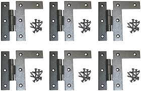 Serving as rustic hardware for cabinets or doors, the small iron hinge can be matched to any decor style. 6 Offset H L Cabinet Hinge Black Wrought Iron Left 3 1 2 H Rs Amazon Com