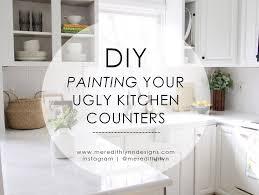 diy painting my kitchen countertops