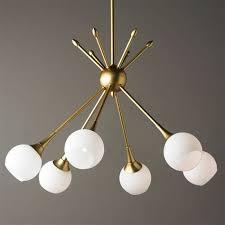 mid century modern mobile chandelier 6 light shades of