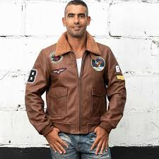 avirex fly real leather jacket air force flight jacket fur collar genuine leather jacket men cowskin