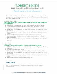 strength and conditioning coach resume