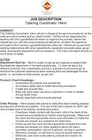 Catering Job Description Resume Catering Resume Cover Letter 22