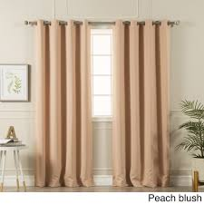 aurora home silvertone grommet top thermal insulated blackout curtain panel pair on free today com 15002255