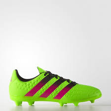 green shock black pink adidas kids football boots ace 16 3 firm ground solar core