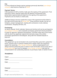 How To Write An Interior Design Letter Of Agreement Design