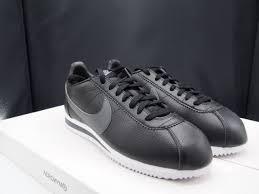 nike cortez classic leather black dark grey 749571 011