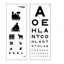 Double Sided Eye Test Chart 3m