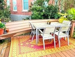 outdoor rug on wood deck best indoor