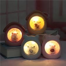 2019 Cartoon <b>Hamster Night Light</b> Baby Room Decorative Craft Kids ...