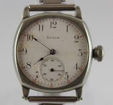 vintage elgin watch zeppy io vintage 1905 elgin porcelain dial manual wind 7 jewels men s wrist watch lot 041
