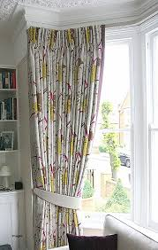 curtains bay window pole stunning curtain for