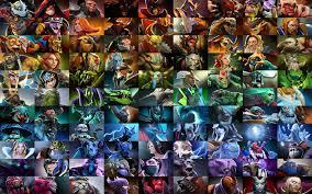dota 2 poster all heroes color sorted dota2