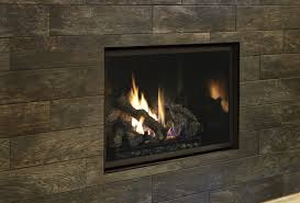 fireplace xtrordinair 864 clean face gas fireplace with adjule tile trim kit and black enamel fireback