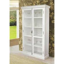 cast white display cabinet