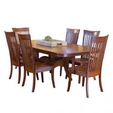 amish cherry 7 piece dining set table 4 side chairs 2 arm chairs