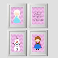 wonderful inspiration frozen wall decor printed art elsa anna olaf prints zoom decorating kit target