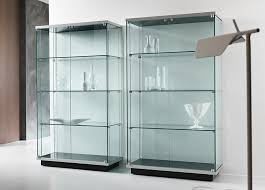 wall curio cabinet with glass doors