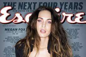 megan fox pink makeup look in esquire february 2016