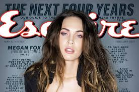megan fox pink makeup look in esquire february 2016