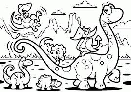 Free Childrens Colouring Sheets Dinosaur Printable Coloring Pages