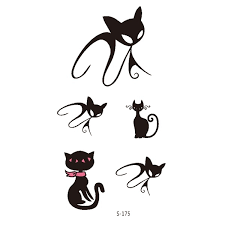 Promotion Fashion Cat Arm Tattoo Waterproof Temporary Tattoo Stickers Body Art Tatoo For Women Girl
