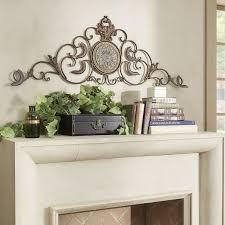 >classic tuscan wrought iron metal wall decor rustic antique indoor  classic tuscan wrought iron wall decor is a must have for home decor scrolling details abound in this antiqued wall decor while its medallion inspired