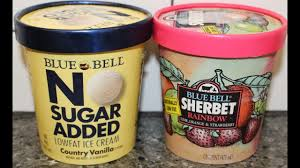 blue bell no sugar added country vanilla ice cream sherbet rainbow review