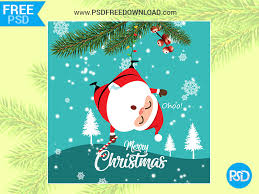 Free Download Greeting Card Merry Christmas Greeting Card Psd By Psd Free Download Dribbble