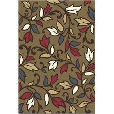 home reaction area rugs fl scrolls leaves petals vines rug dynamix tribeca brown red