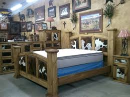 rustic king bed set cowhide bedroom set with king bed rustic king size bed sets