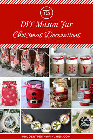 Mason Jars Decorated For Christmas 60 Mason Jar DIY Christmas Decorations Prudent Penny Pincher 48