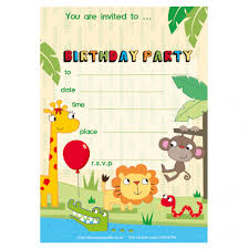 Safari Party Invitations Paper Gekko Personalised Childrens Party Packs Wrapping Paper