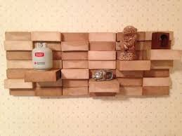 picture of wood block wall hanging shelf