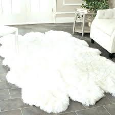 grey and white faux fur rug white faux sheepskin rug medium size of area sheepskin area