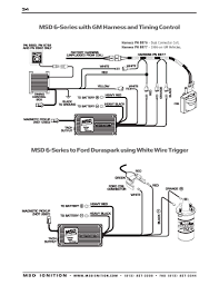 msd ignition wiring diagrams coil · msd 6 series to ford duraspark using white trigger wire