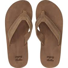 billabong mens all day leather sandals tan yellow sandals