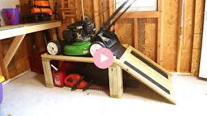 lawn mower storage caddy