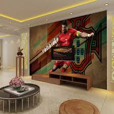 3D Large Mural TV Background Wall Paper Bedroom C Ronaldo Football Wall  Covering PVC Wallpaper For