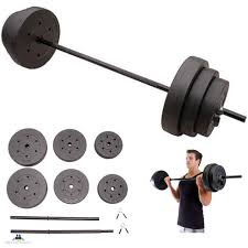 Golds Gym 100 lbs Weight Set Olympic Grip Plate Weights Barbell Lifting Plates 50lbs Home Exercise
