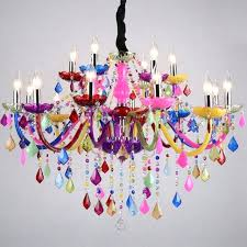 colorful chandeliers