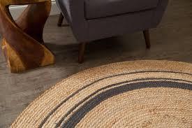 anji mountain kerala mist jute area rug round 6 x 6 beach style area rugs by rolles